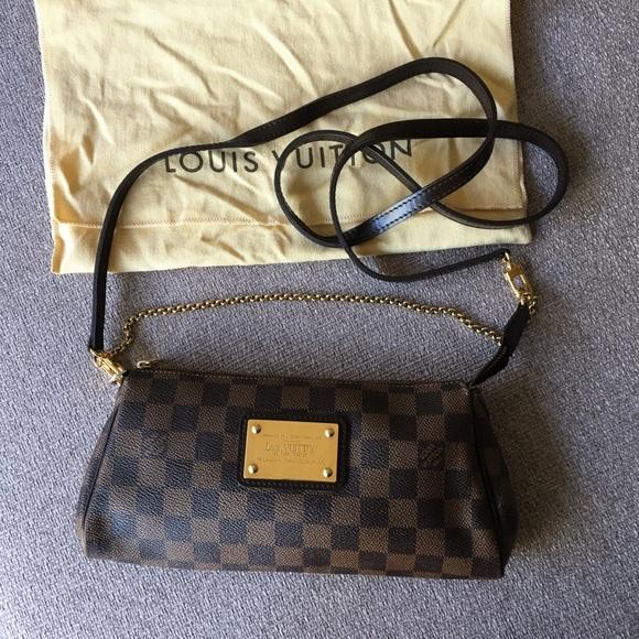1bdb66028 Louis Vuitton Handbags - Authentic Louis Vuitton Eva Damier Ebene Crossbody